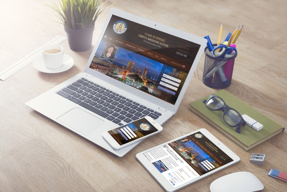 Immigration Law Firm website development and graphic design