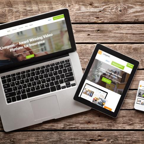 Livegenic website design