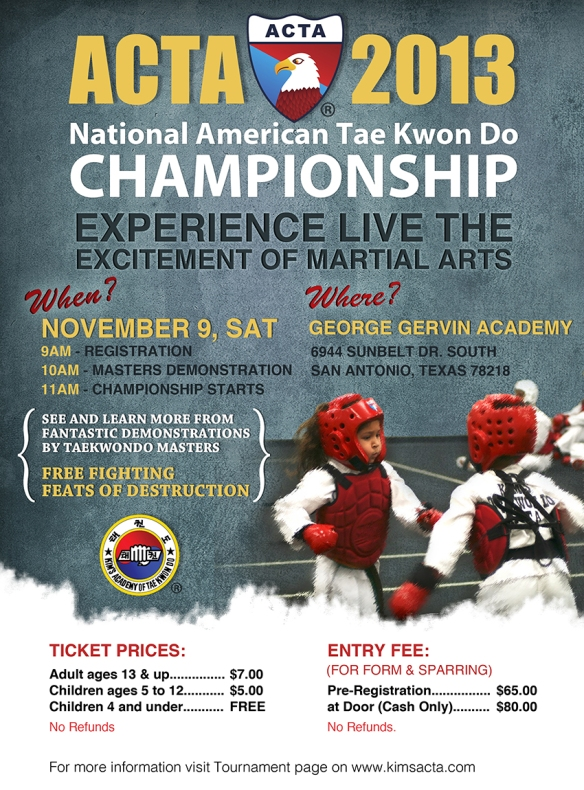 Tae Kwon Do Championship Flyer