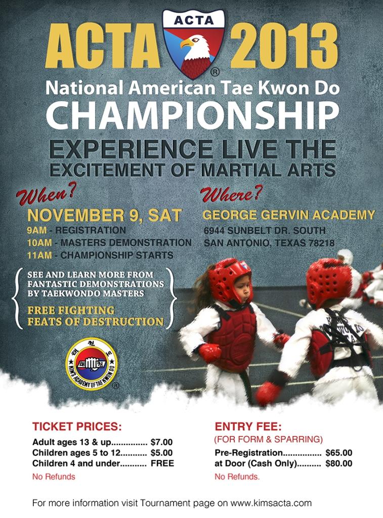 Tae Kwon Do Championship Flyer