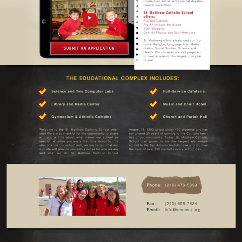 Catholic School Website and Development